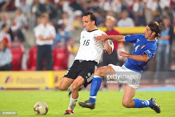 Laenderspiel 2003 Stuttgart Deutschland Italien Jens JEREMIES/GER Alessio TACCHINARDI/ITA