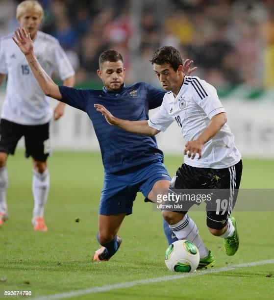 FUSSBALL INTERNATIONAL Laenderspiel Freundschaftsspiel U Deutschland Frankreich Amin Younes am Ball gegen Jordan Ferri
