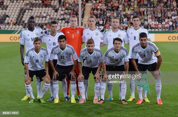 FUSSBALL INTERNATIONAL Laenderspiel Freundschaftsspiel U Deutschland Frankreich Mannschaftsbild Deutschland Danny Vieira da Costa Shawn Parker...