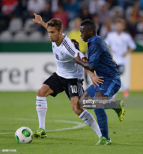 FUSSBALL INTERNATIONAL Laenderspiel Freundschaftsspiel U Deutschland Frankreich Moritz Leitner gegen Nampalys Mendy