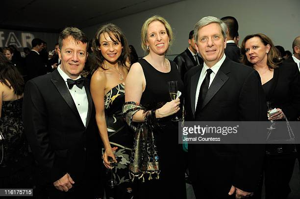 Laercio Xavier Beata Boman Desiree Mann and president of Piaget North America Larry Boland attend the 2nd Annual amfAR Inspiration Gala at The Museum...