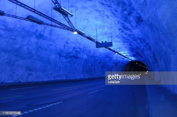 laerdal tunnel (норв. lærdalstunnelen) - オスロ ストックフォトと画像