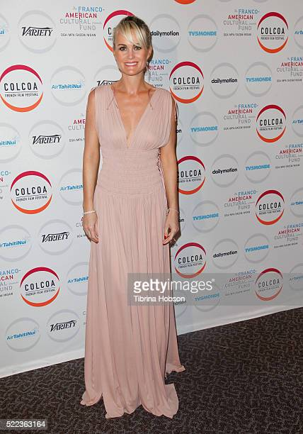 Laeticia Hallyday attends opening night of the 20th annual COLCOA French Film Festival at Directors Guild of America on April 18 2016 in Los Angeles...