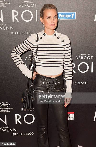 Laeticia Hallyday attends the 'Mon Roi' Paris Premiere at Cinema Gaumont Capucine on October 12 2015 in Paris France
