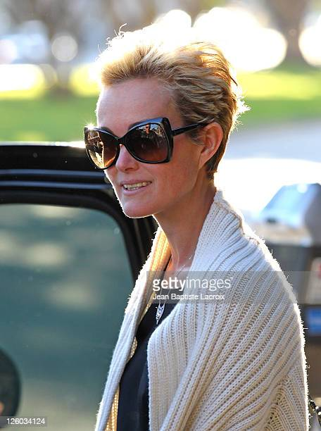 Laeticia Hallyday is seen at Cheesecake Factory on February 21 2011 in Los Angeles California