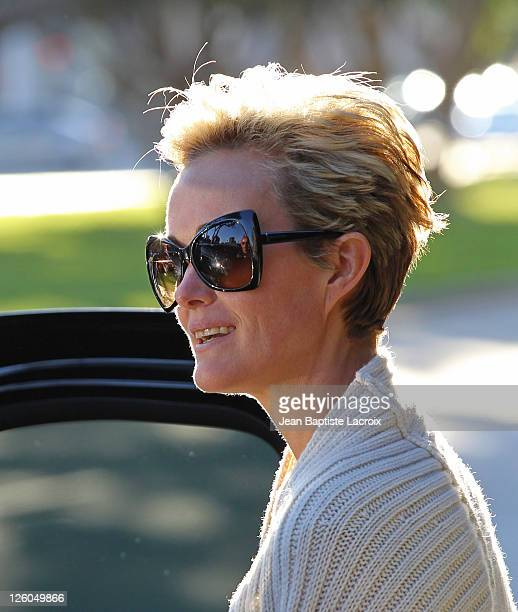 Laeticia Hallyday is seen at the Cheesecake Factory on February 21 2011 in Los Angeles California