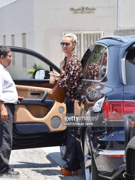 Laeticia Hallyday is seen on June 21 2018 in Los Angeles California