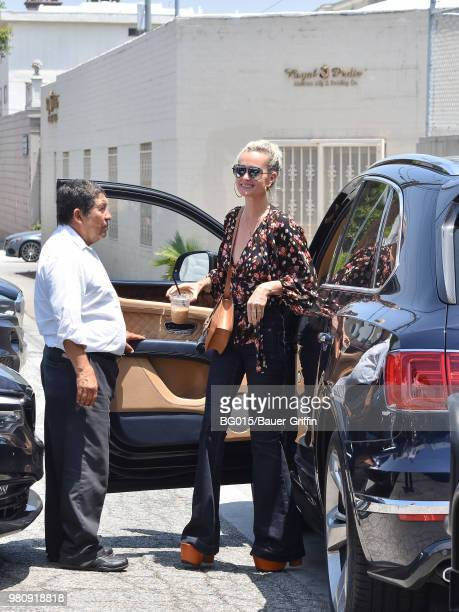 Laeticia Hallyday is seen on June 21 2018 in Los Angeles California