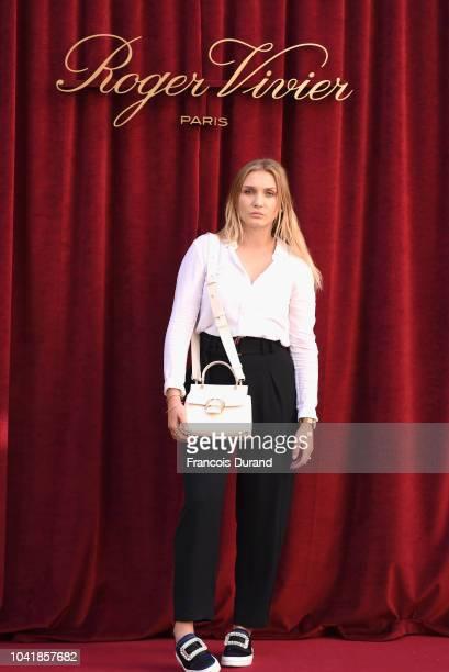 Laetita Clement attends the Roger Vivier Presentation Spring/Summer 2019 during Paris Fashion Week on September 27 2018 in Paris France