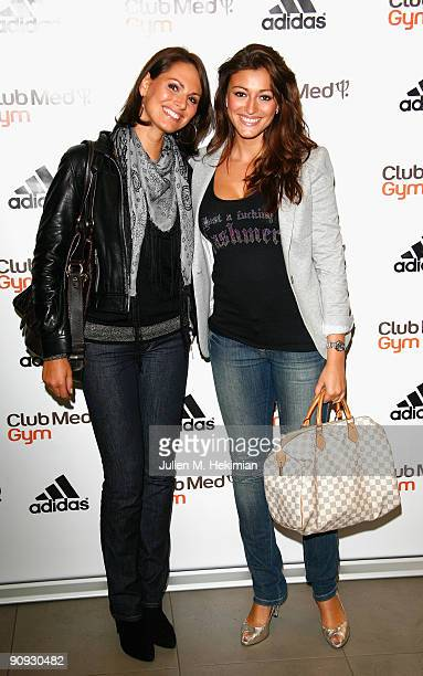 Laetitia Bleger and Rachel LegrainTrapani attend the 'Club Med Gym' birthay celebration at Adidas Performance Store ChampsElysees on September 17...