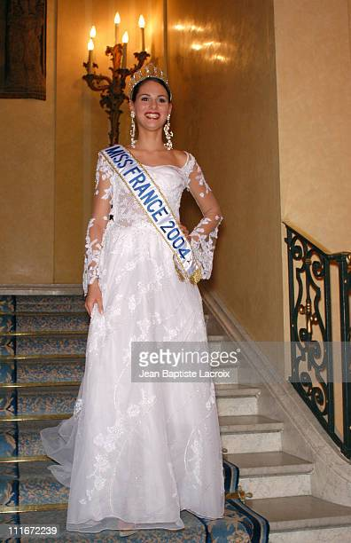 Laetitia Bleger makes her first official appearance has Miss France 2004