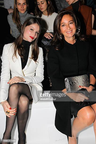 Laetitia Casta and Katya Toledano attend the Christian Dior Spring/Summer 2013 HauteCouture show as part of Paris Fashion Week at on January 21 2013...