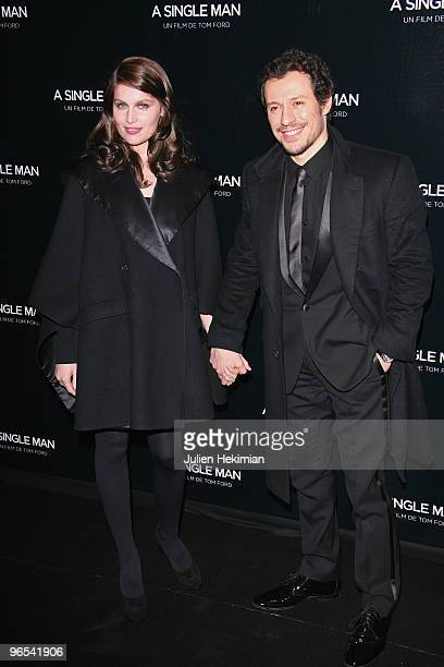 Laetitia Casta and Stefano Accorsi attend the 'A Single Man' Paris premiere at Cinema UGC Normandie on February 9 2010 in Paris France