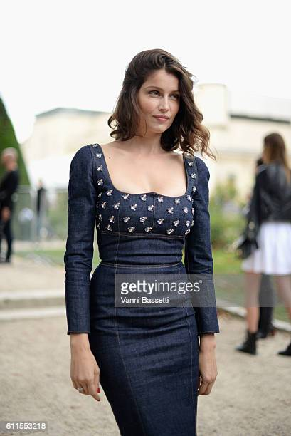 Laetitia Casta arrives at the Christian Dior show as part of the Paris Fashion Week Womenswear Spring/Summer 2017 on September 30 2016 in Paris France