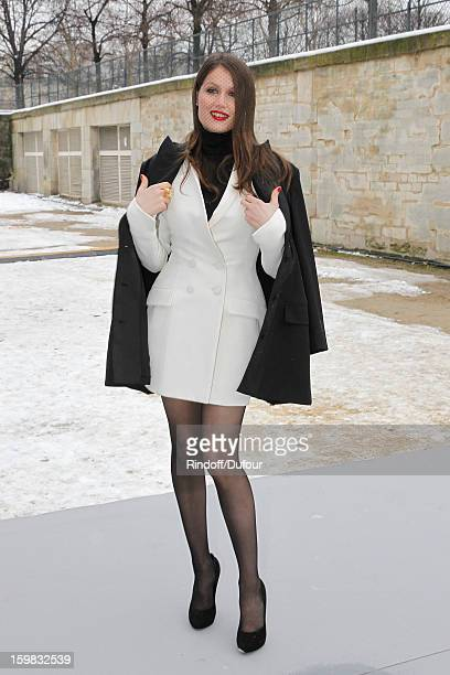 Laetitia Casta arrives to attend the Christian Dior Spring/Summer 2013 HauteCouture show as part of Paris Fashion Week at on January 21 2013 in Paris...
