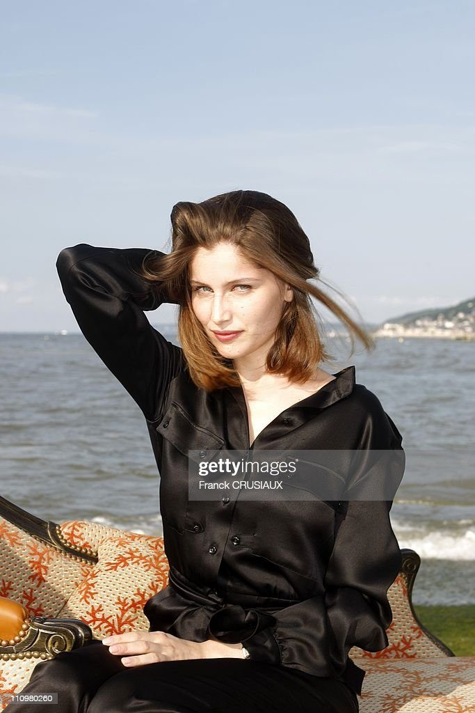 Close up Laetitia Casta at the 22th Cabourg Film Festival in Cabourg, France on June 14th, 2008 : News Photo