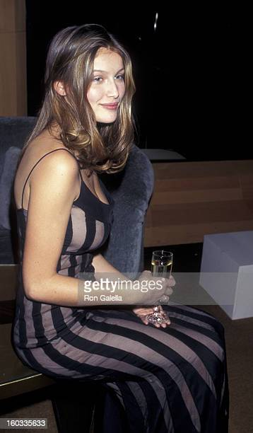 Laetitia Casta attends Cosmopolitan Magazine Party for Bonnie Fuller on February 10 1997 at the Four Seasons Hotel in New York City