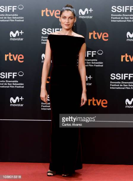 Laetitia Casta attends 'L'Homme Fidele' premiere during the 66th San Sebastian Film Festival at Kursaal San Sebastian on September 22 2018 in San...