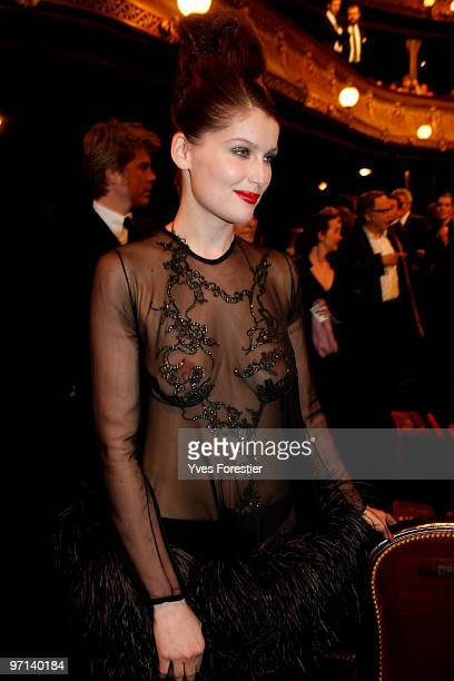 Laetitia Casta attends the 35th Cesar Film Awards held at Theatre du Chatelet on February 27 2010 in Paris France