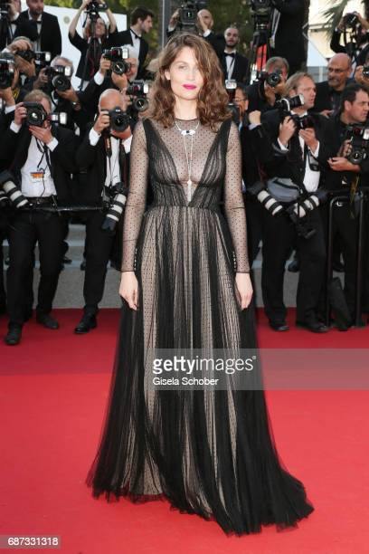 Laetitia Casta attends the 70th Anniversary screening during the 70th annual Cannes Film Festival at Palais des Festivals on May 23 2017 in Cannes...