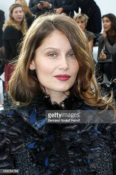 Laetitia Casta attends the Chanel Spring / Summer 2013 show as part of Paris Fashion Week at Grand Palais on October 2 2012 in Paris France