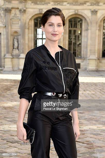 Laetitia Casta attends the Christian Dior show as part of the Paris Fashion Week Womenswear Fall/Winter 2015/2016 on March 6 2015 in Paris France