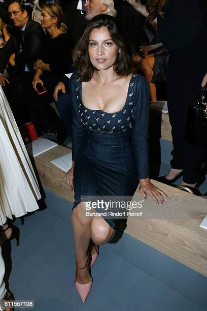 Laetitia Casta attends the Christian Dior show as part of the Paris Fashion Week Womenswear Spring/Summer 2017 on September 30 2016 in Paris France