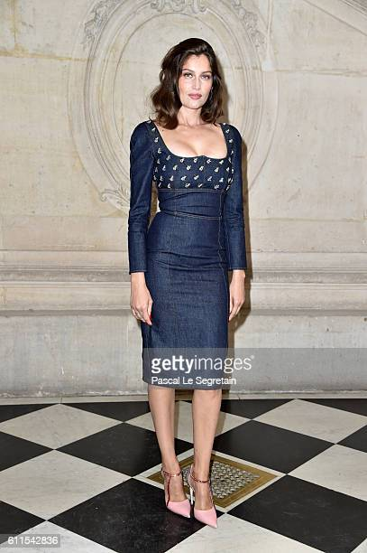 Laetitia Casta attends the Christian Dior show of the Paris Fashion Week Womenswear Spring/Summer 2017 on September 30 2016 in Paris France