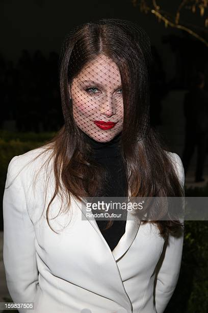 Laetitia Casta attends the Christian Dior Spring/Summer 2013 HauteCouture show as part of Paris Fashion Week at on January 21 2013 in Paris France