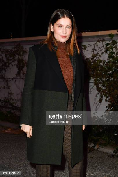 Laetitia Casta attends the Jacquemus Menswear Fall/Winter 2020-2021 show as part of Paris Fashion Week on January 18, 2020 in Paris, France.