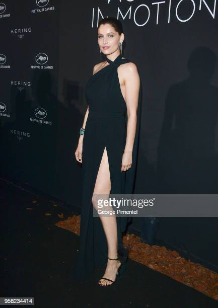 Laetitia Casta attends the Kering Women In Motion dinner during the 71st annual Cannes Film Festival at Place de la Castre on May 13 2018 in Cannes...