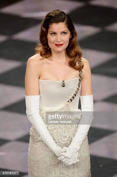Laetitia Casta attends the opening night of the 64th Festival di Sanremo 2014 at Teatro Ariston on February 18, 2014 in Sanremo, Italy.