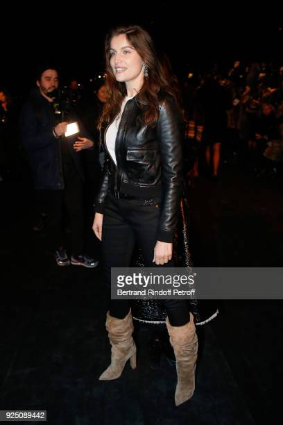 Laetitia Casta attends the Saint Laurent show as part of the Paris Fashion Week Womenswear Fall/Winter 2018/2019 on February 27 2018 in Paris France