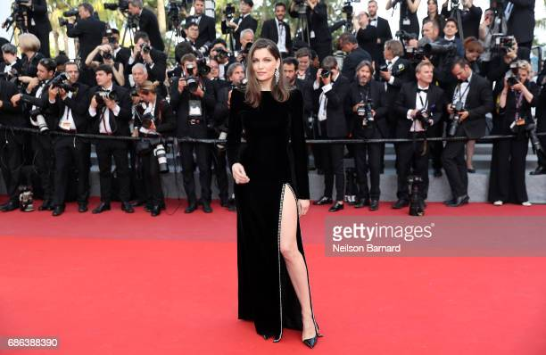 Laetitia Casta attends the 'The Meyerowitz Stories' screening during the 70th annual Cannes Film Festival at Palais des Festivals on May 21 2017 in...