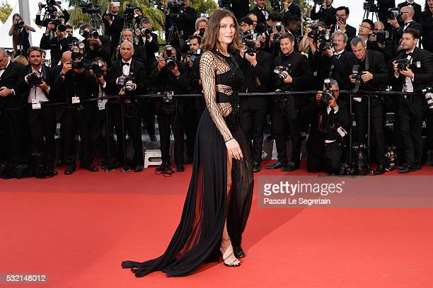 Laetitia Casta attends The Unknown Girl Premiere during the 69th annual Cannes Film Festival at the Palais des Festivals on May 18 2016 in Cannes...