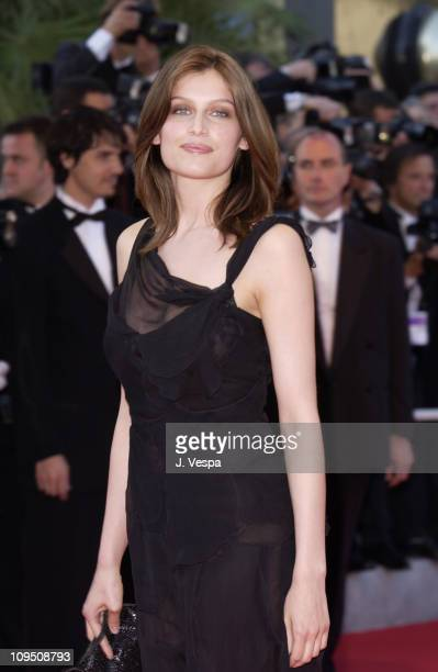 Laetitia Casta during Cannes 2002 Opening Night 'Hollywood Ending' Premiere at Palais des Festivals in Cannes France