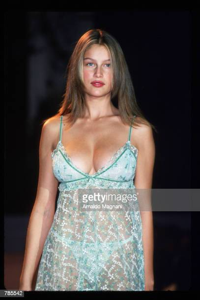 Laetitia Casta models lingerie February 3 1998 during a Victoria's Secret fashion show in New York City Casta has also modelled for Lacroix Vivienne...
