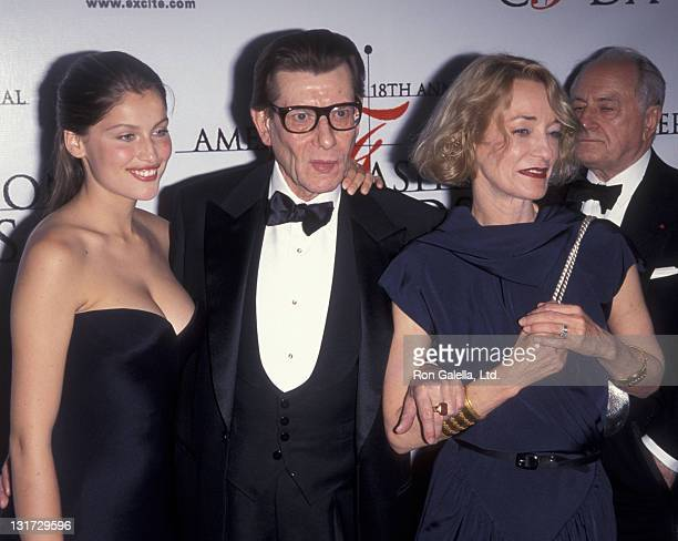 Laetitia Casta Yves Saint Laurent and Loulou de la Falaise attend 18th Annual Council of Fashion Designers of America Awards on June 2 1999 at the...