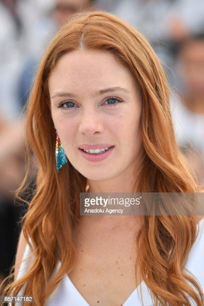 Laetitia Dosch poses during a photocall for the film Jeune Femme un certain regard at the 70th annual Cannes Film Festival in Cannes France on May 23...