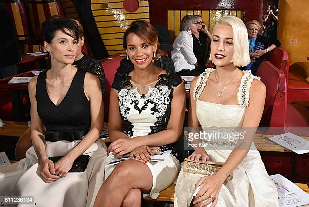 Laetitia Fourcade, Alicia Fall and Clizia Incorvaia attend the Christophe Guillarme show as part of the Paris Fashion Week Womenswear Spring/Summer...