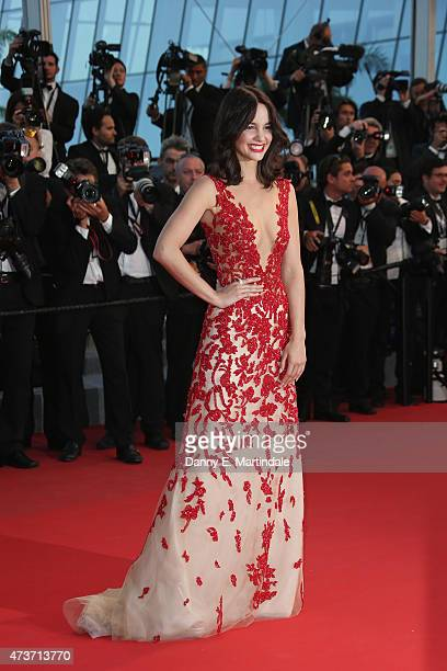Laetitia Guarino attends the Premiere of 'The Sea Of Trees' during the 68th annual Cannes Film Festival on May 16 2015 in Cannes France