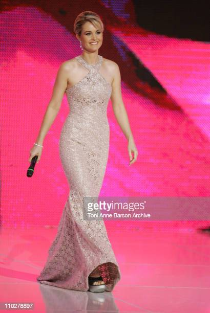 Laetitia Hallyday during Miss France 2006 Pageant at Palais des Festivals in Cannes France