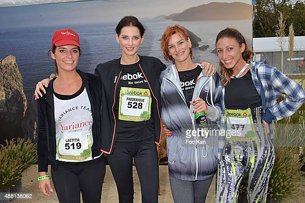 Laetitia Millot Frederique Bel Fauve Hautot and Silvia Notargiacomo attend 'La Parisienne 2015' Women Auction race Against Breast Cancer Hosted by...