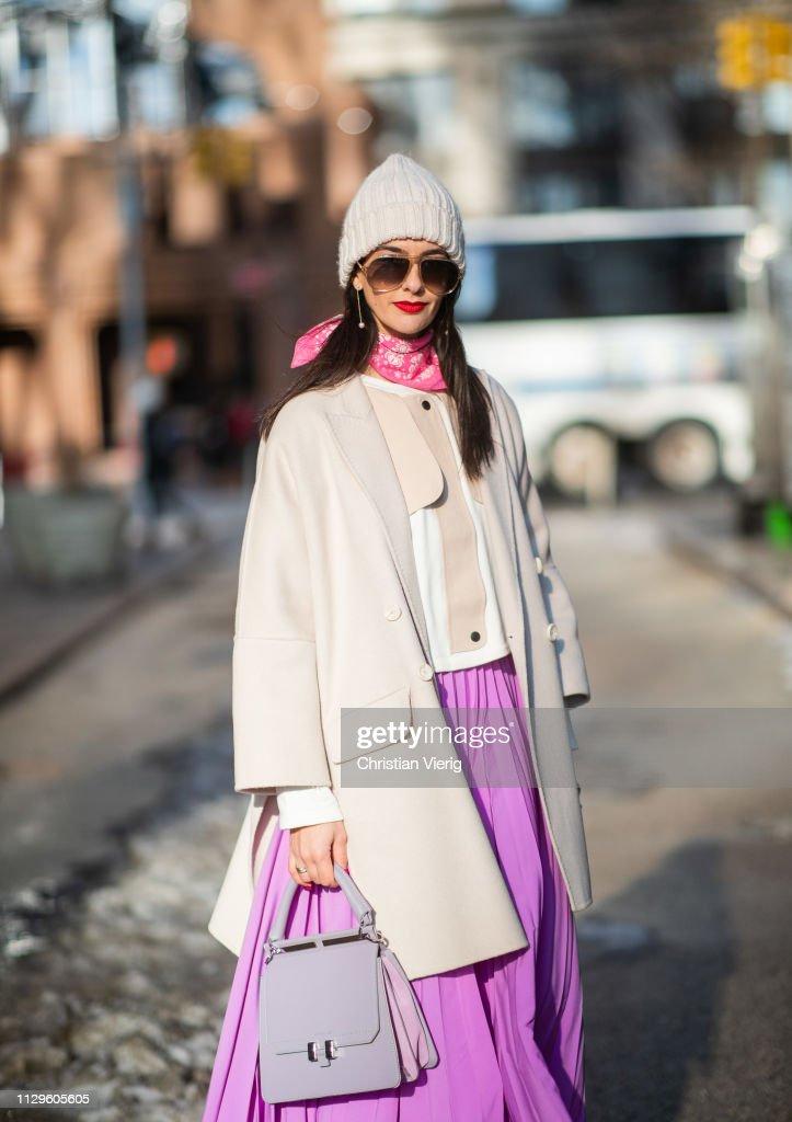 Laetitia Nimah Kutob is seen wearing bag Maison Heroine, Max ...