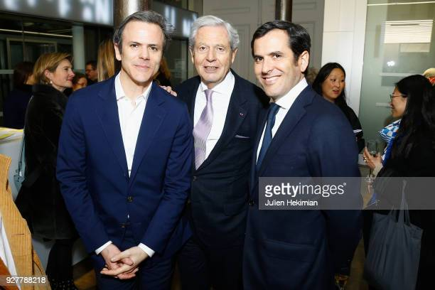 Lafayette Anticipations President Guillaume Houze his father Executive Chairman of the Board of Directors at Galeries Lafayette Group Philippe Houze...