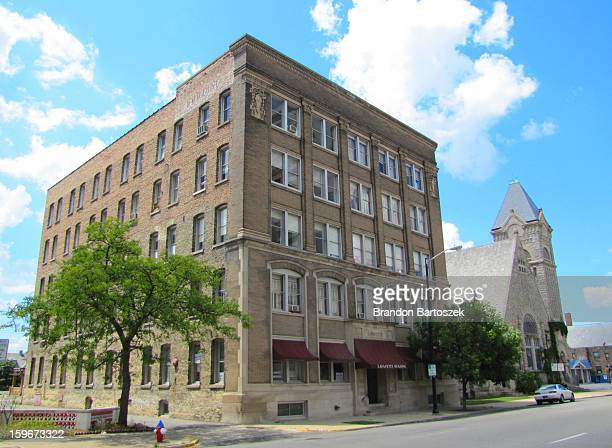 lafayette building - south bend indiana stock-fotos und bilder
