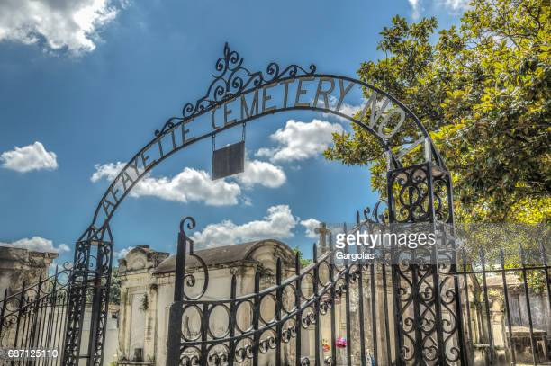 lafayette cemetery main entrance, new orleans, louisiana - lafayette louisiana stock pictures, royalty-free photos & images