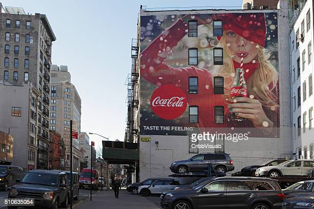 Lafayette Street New York with a painted Coca-Cola billboard
