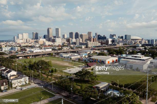 Lafitte Greenway park in New Orleans, Louisiana, U.S., on Monday, May 10, 2021. Thousands of shotgun houses exist across New Orleans, appearing in...