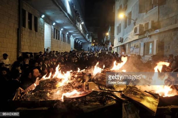 lag baomer celebrated in jerusalem, israel - lag baomer photos et images de collection